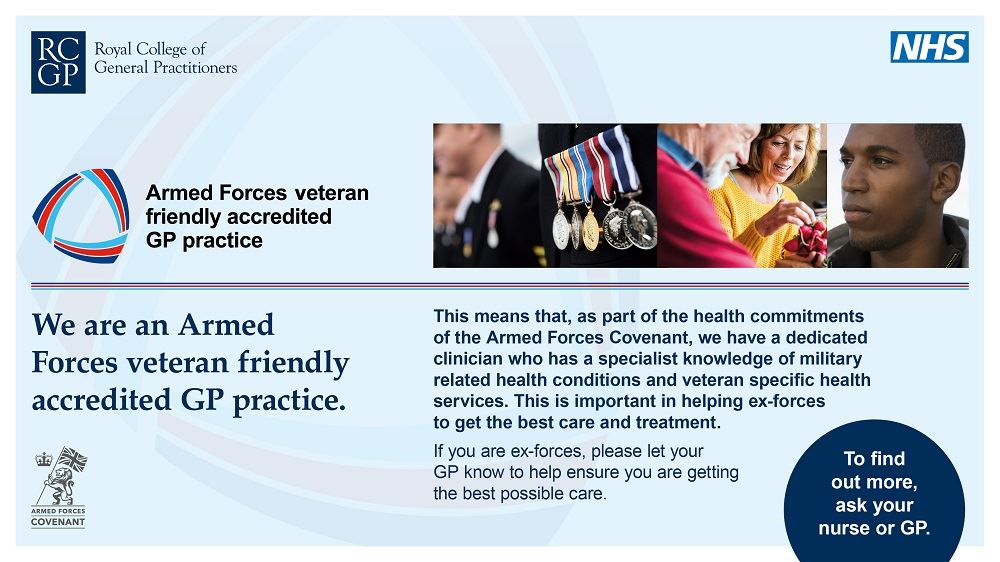 armed forces accredited gp practice